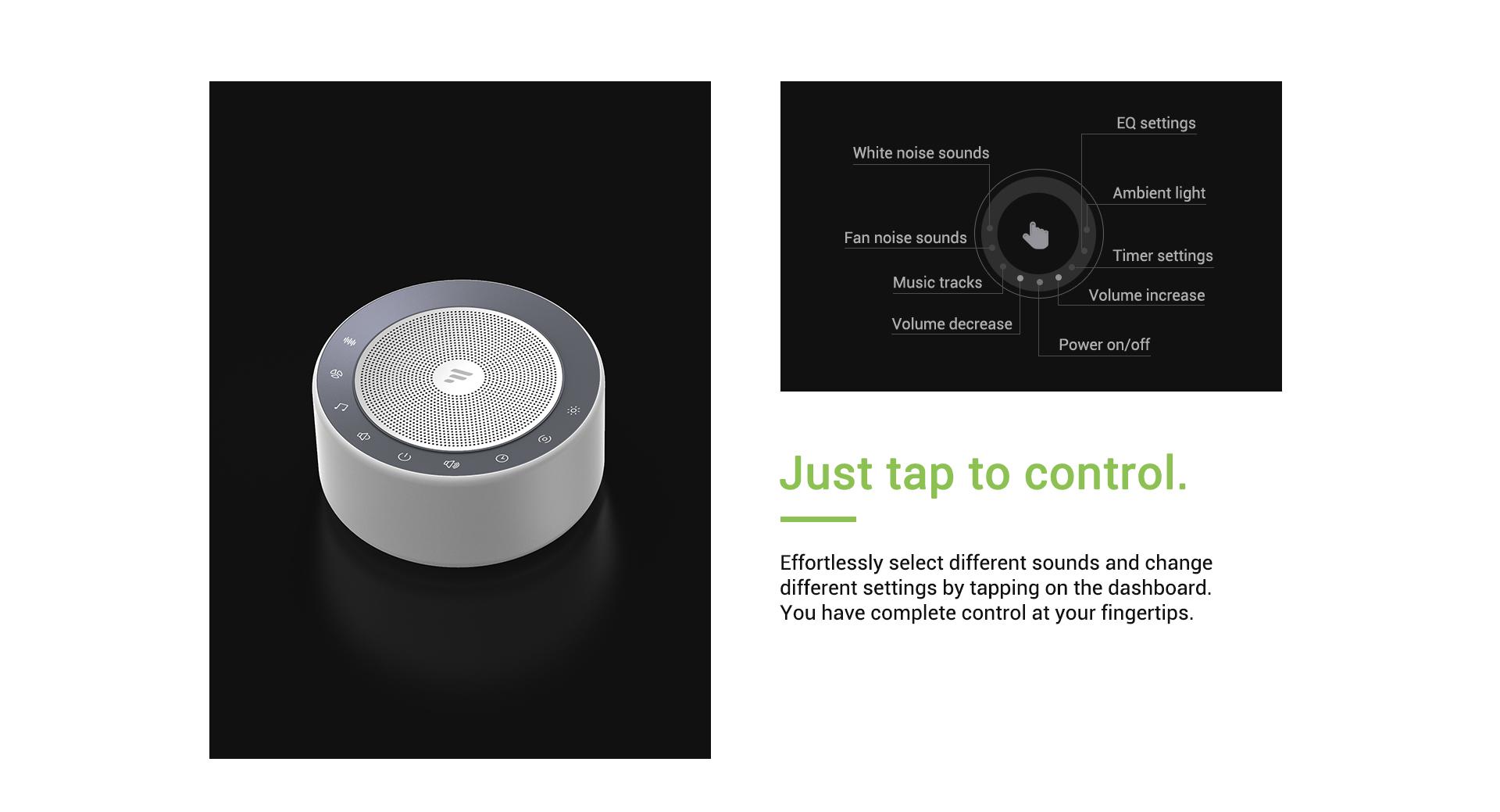 sleep sound machine touch control