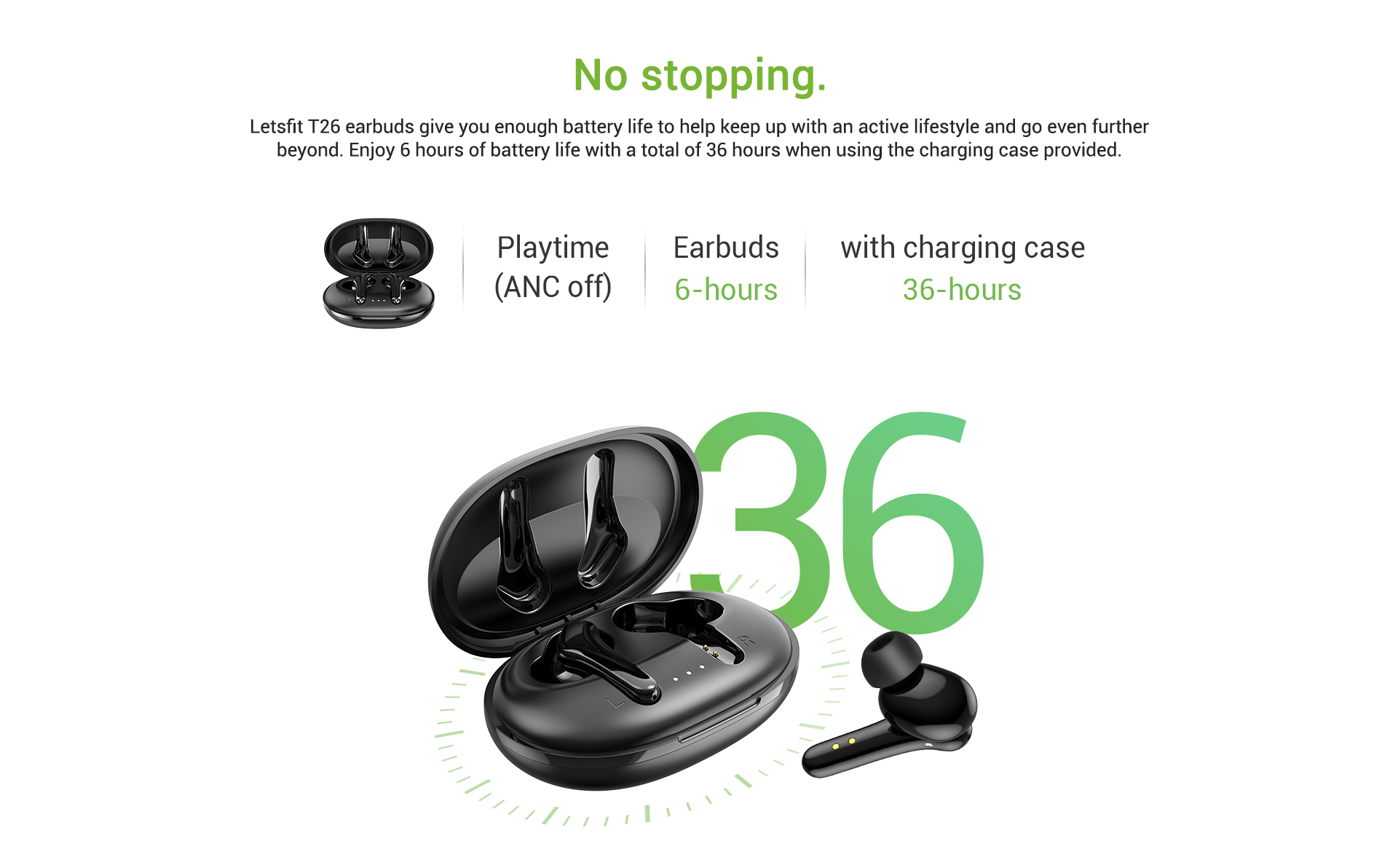 earbuds long lasting battery