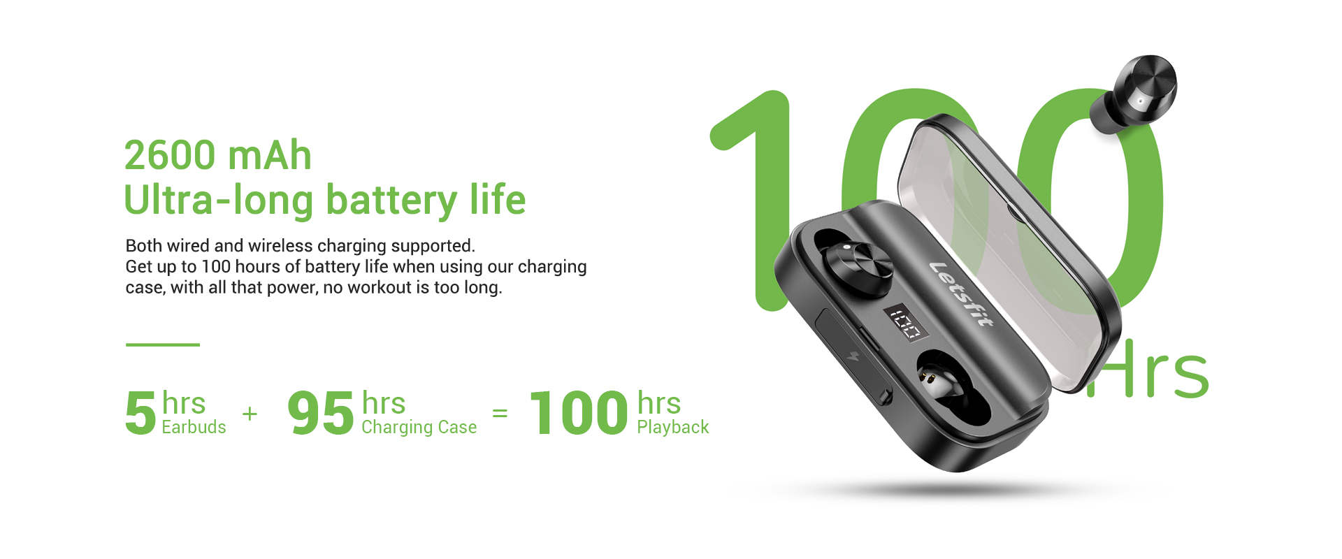 wireless earbuds with longest battery life