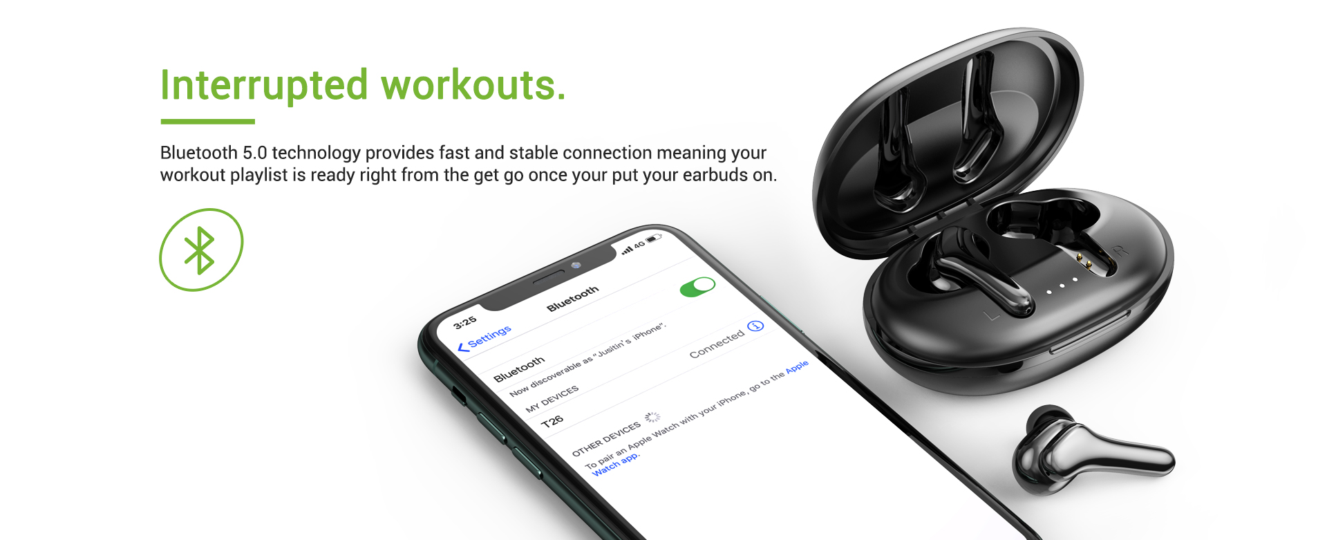 noise cancelling wireless bluetooth earbuds