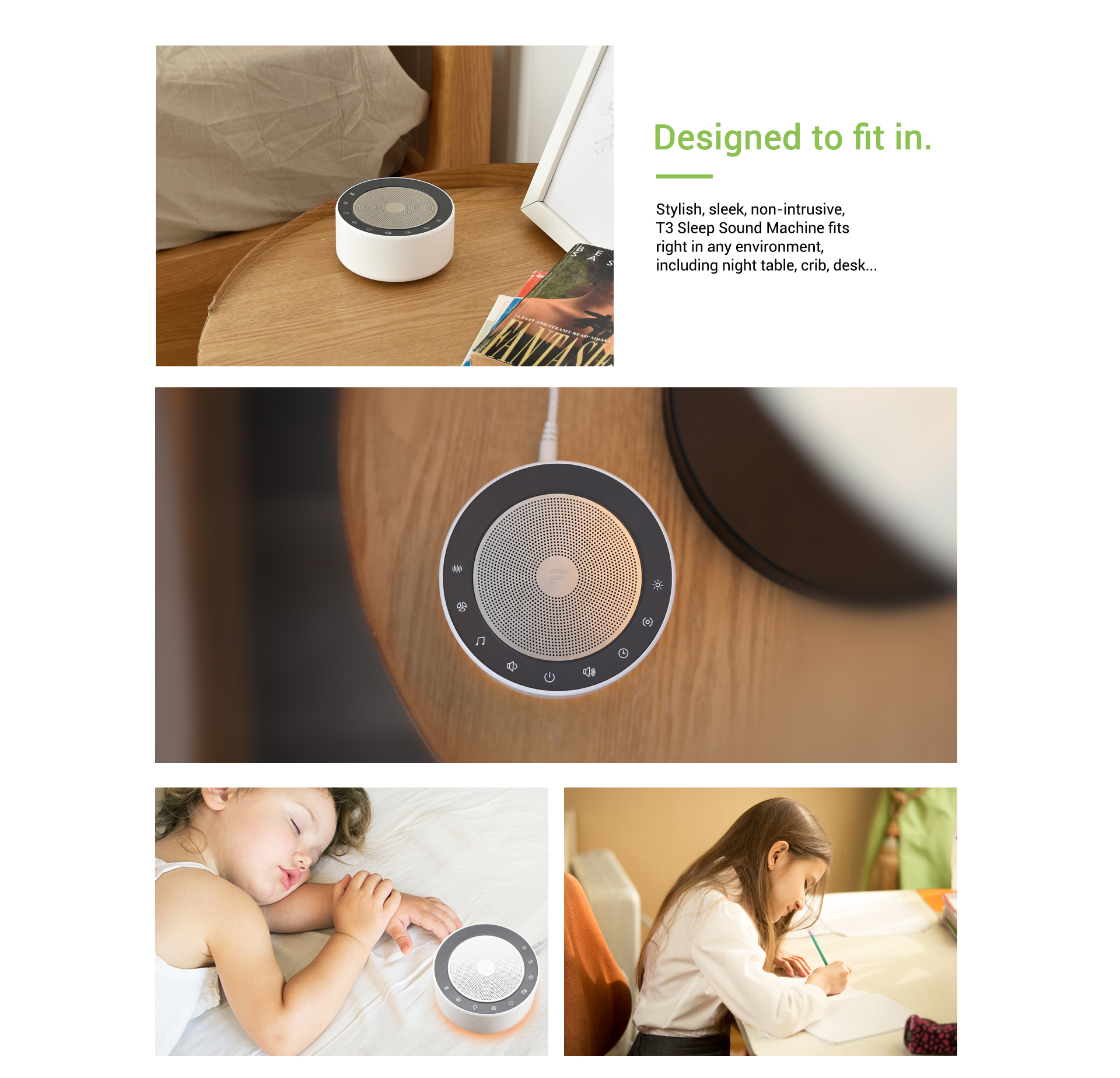 sleep sound machine for kids & adults