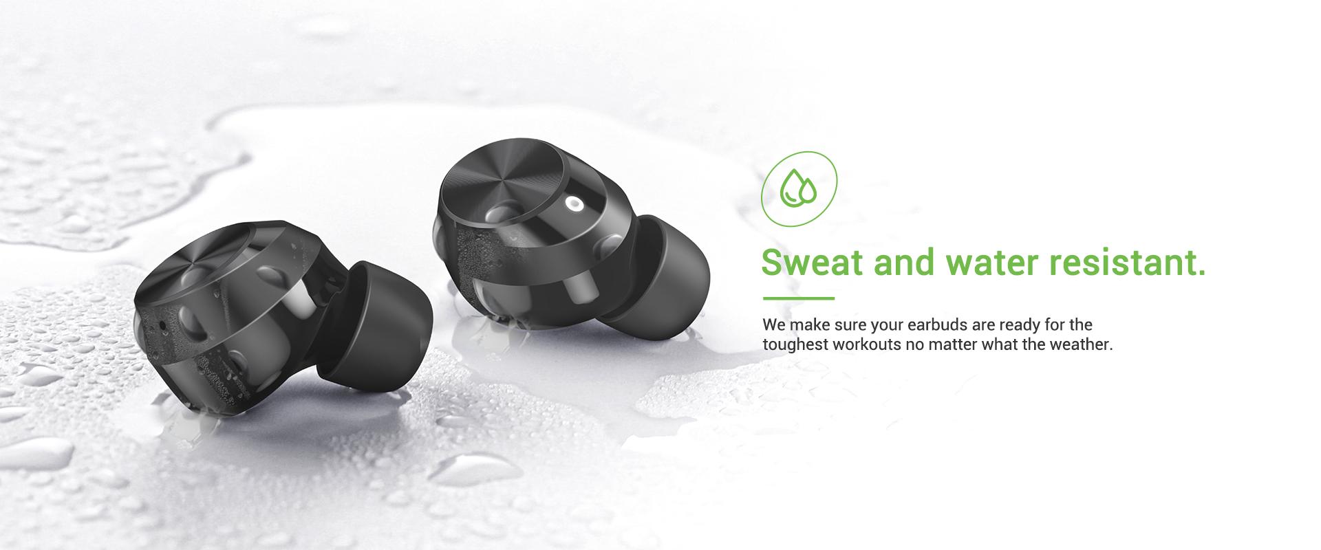 wireless earbuds sweatproof