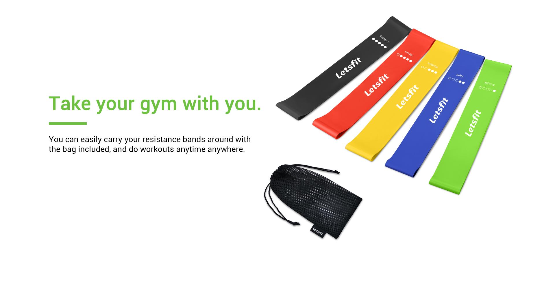 gym loop resistance bands