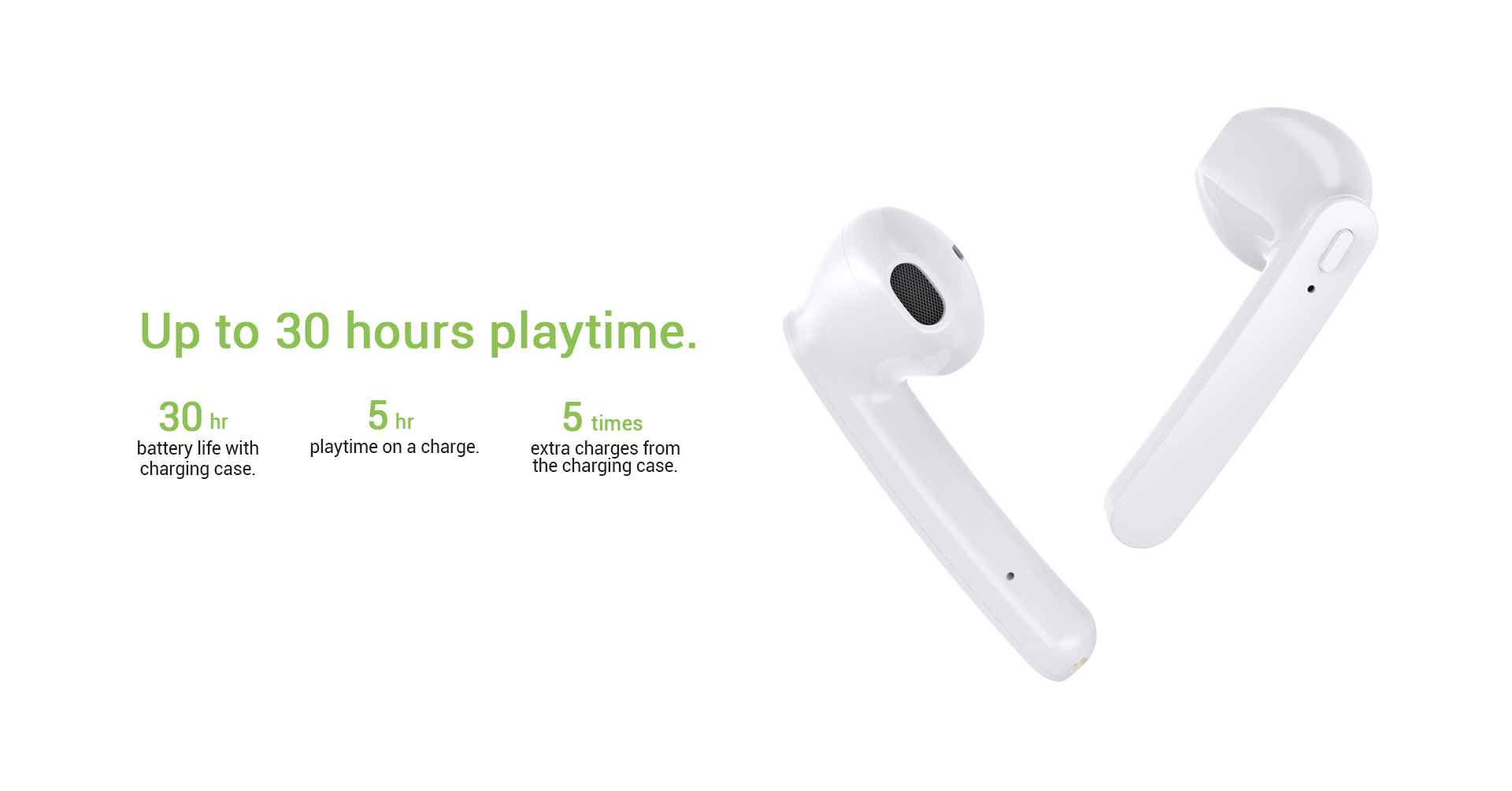truly wireless earbuds long battery life