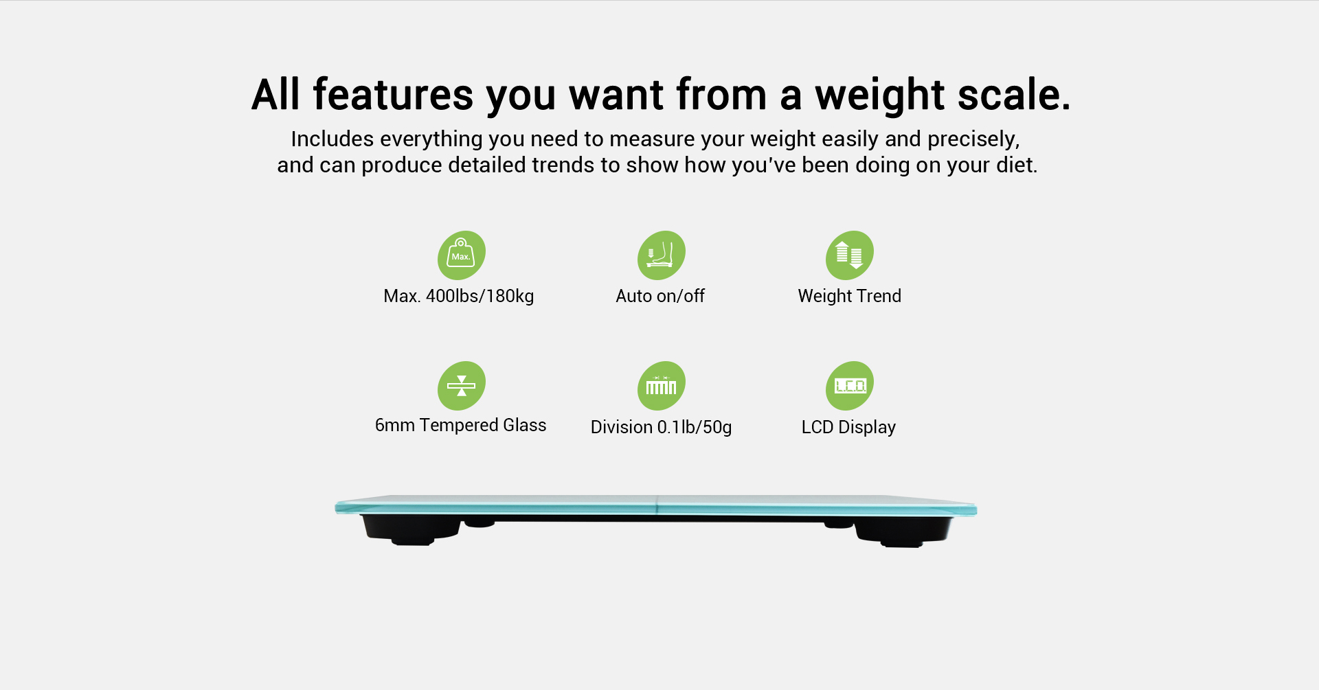 weight scale accurately