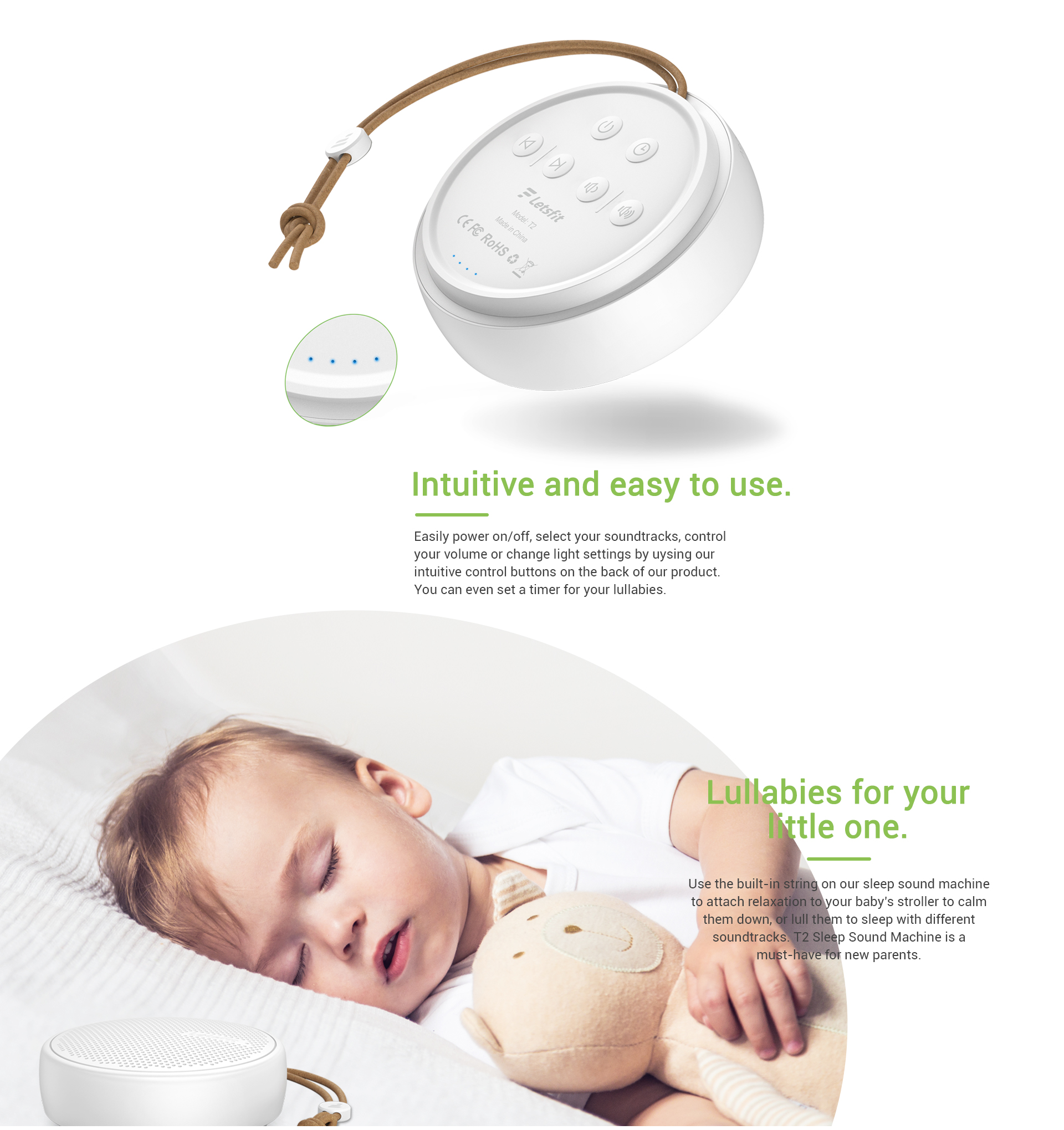 Portable Sound Machine for Baby Sleeping
