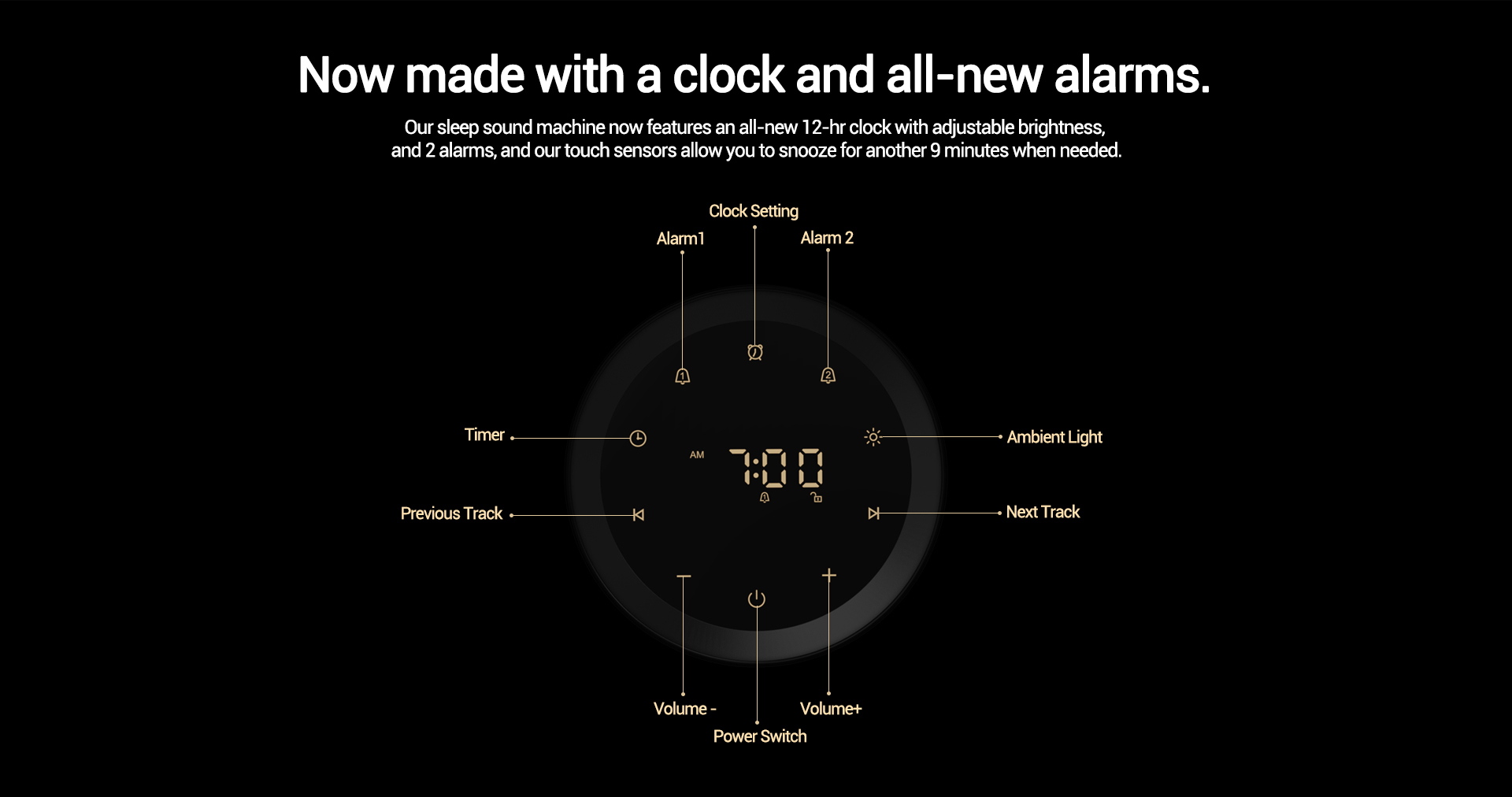 sound machine alarm clock