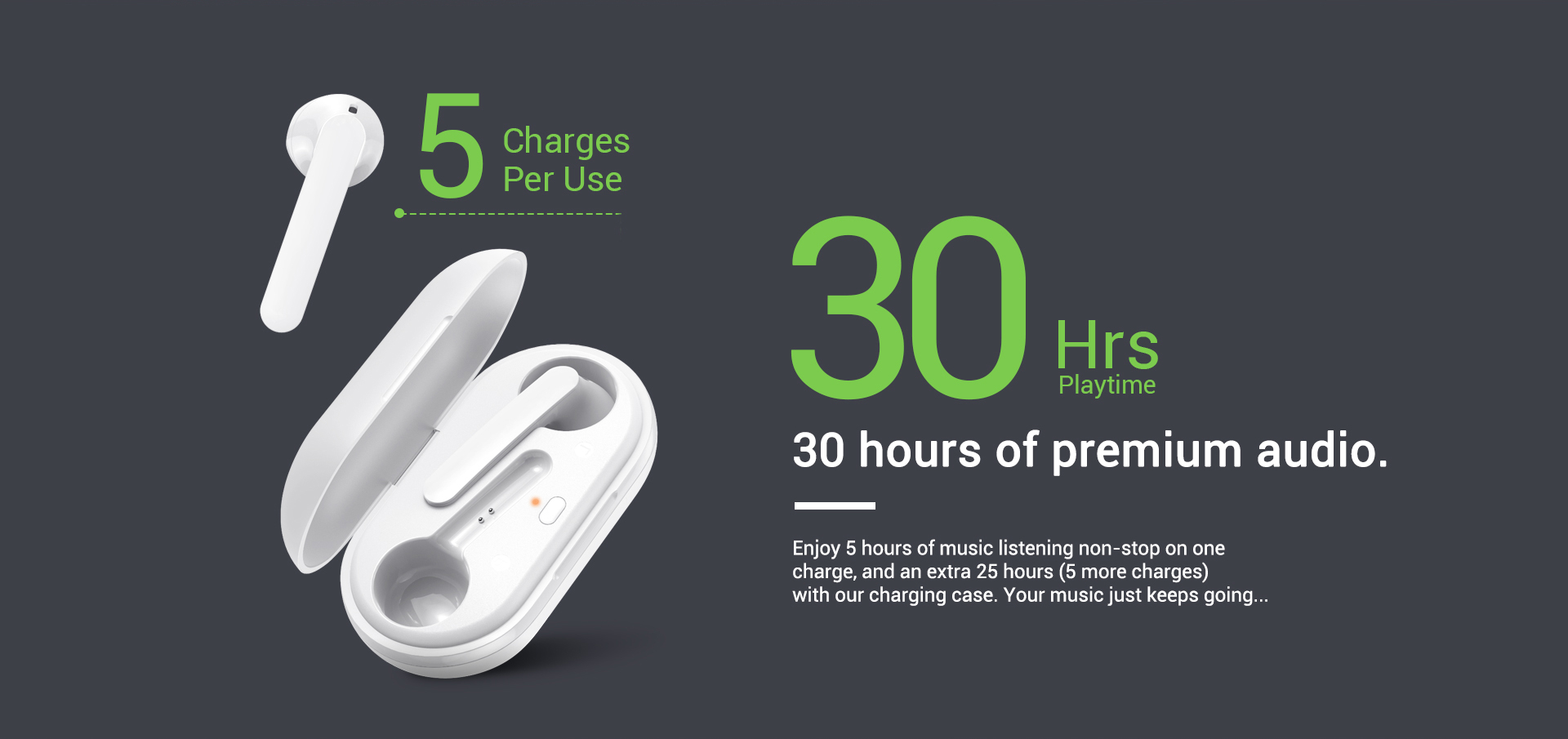 wireless bluetooth earbuds with charging case