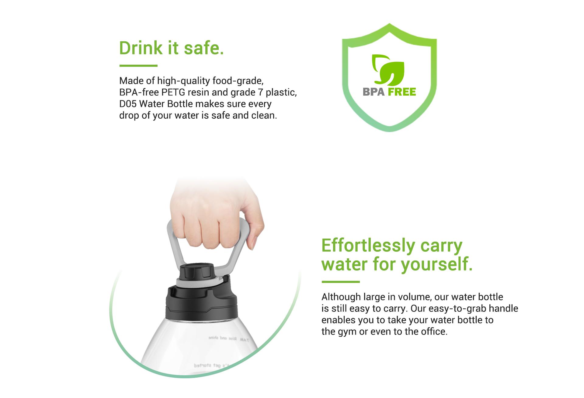 gallon water bottle motivational handle