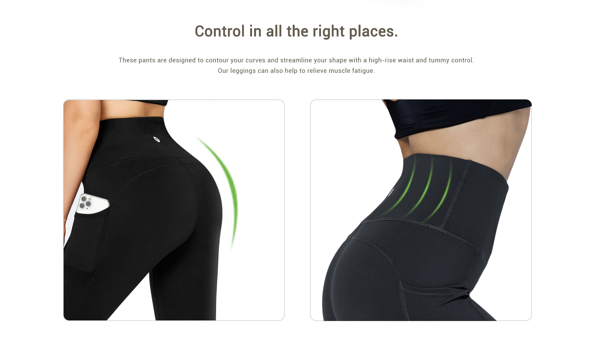high waisted leggings tummy control