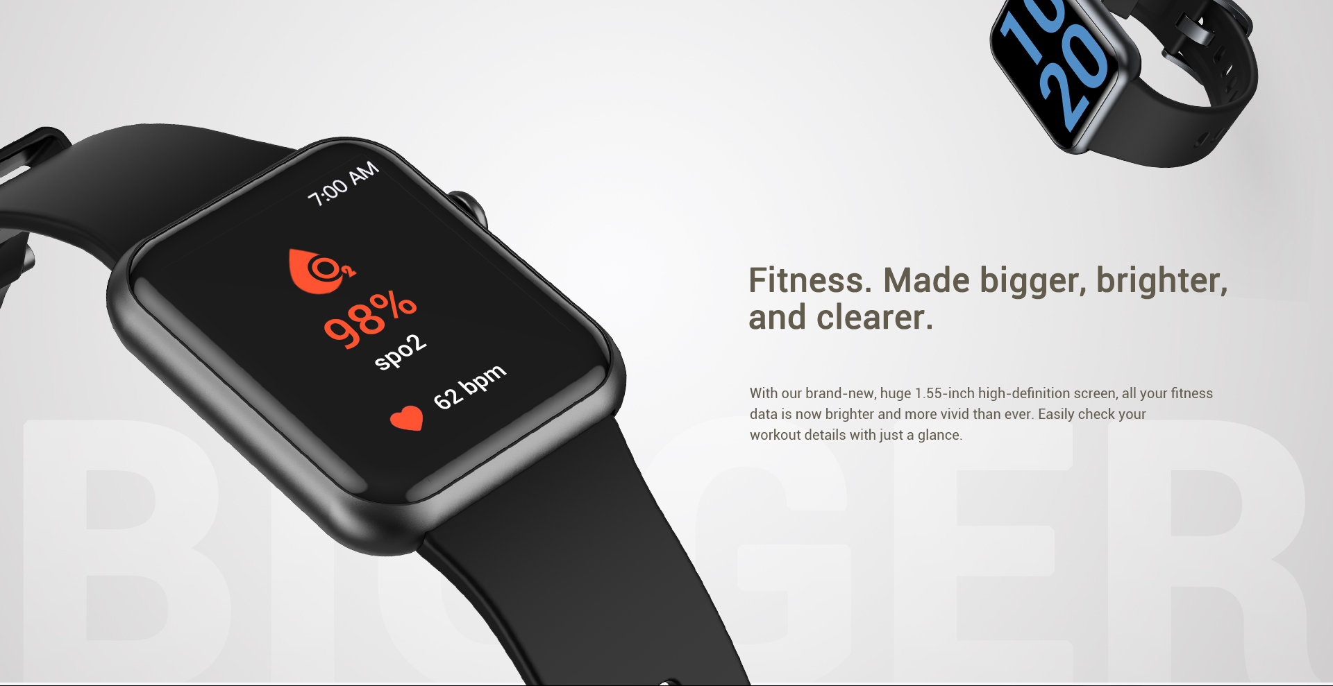 Letsfit IW2 smartwatch allows you to measure your Spo2 level with ease, giving you deeper insightsinto your fitness and health
