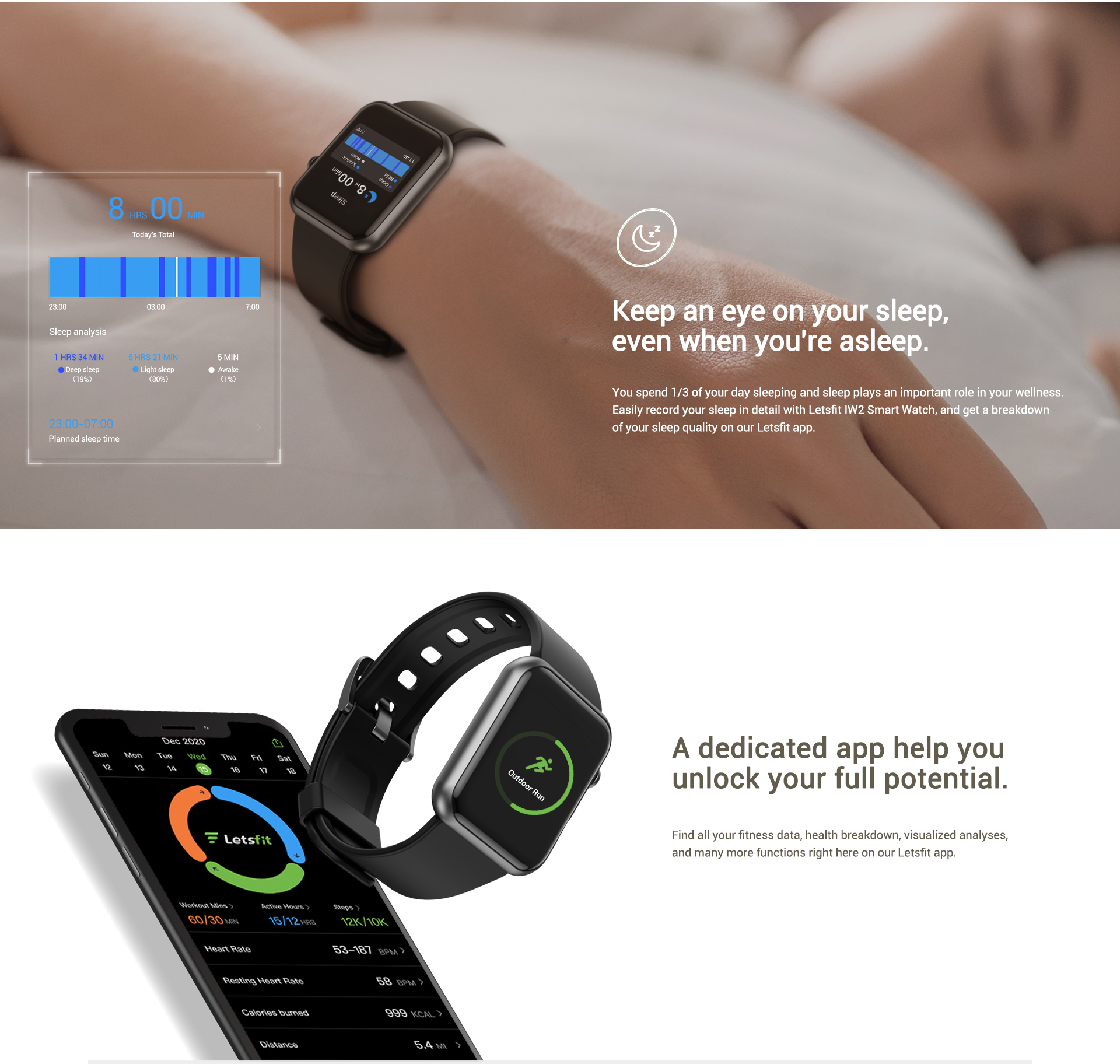 easily monitor your steps, heart rate, distance travelled and more with 10 sports modes
